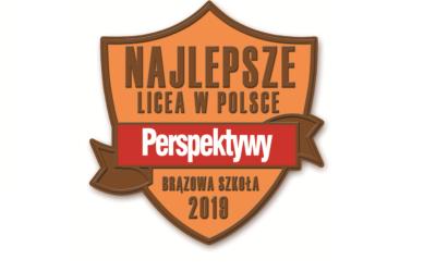 Mamy to! Brązowa odznaka Rankingu Liceów i Techników PERSPEKTYWY 2019!