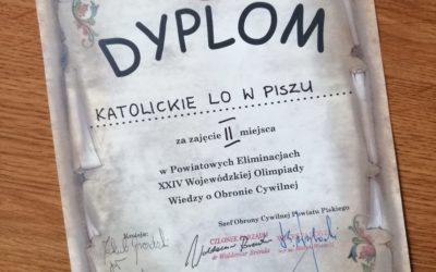 Powiatowe Eliminacje XXIV Wojewódzkiej Olimpiady Wiedzy o Obronie Cywilnej