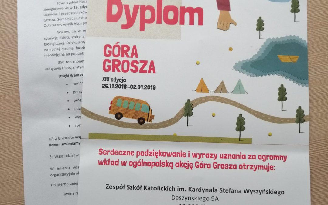 """""""Góra grosza"""" – podziękowanie dla ZSK"""