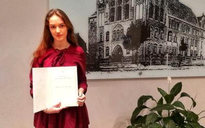 Stypendium Rady Ministrów dla naszej uczennicy!