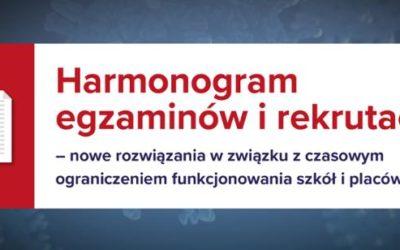 Harmonogram egzaminów i rekrutacji